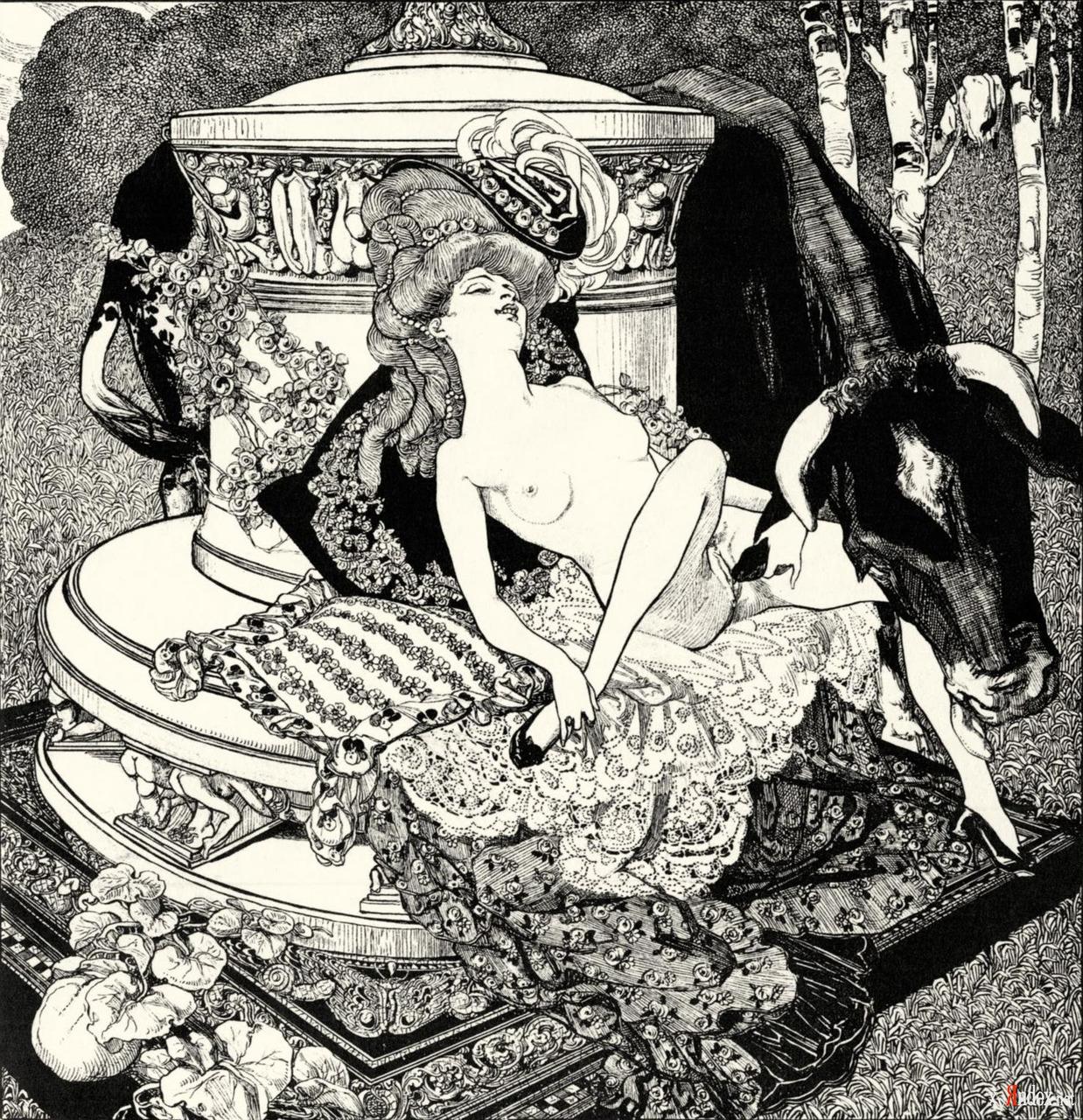 ему, эротические художественные произведения с иллюстрациями ретро завелась
