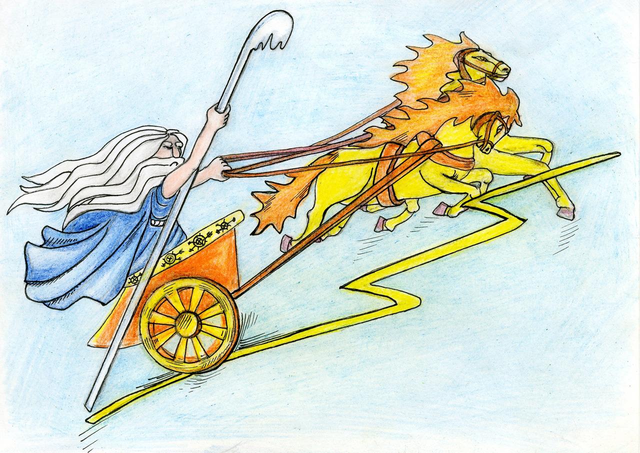 Бог на колеснице картинки