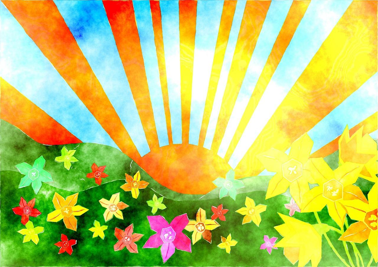 картинка разноцветное лето с детьми видите, создании